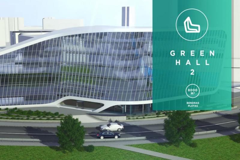 Green hall pristatymas